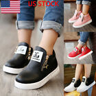 US KIDS GIRLS BOYS ANKLE BOOTS SHOES TODDLER TRAINERS SIDE ZIPPER FASHION SHOES