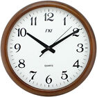Wooden Wall Clock Classic Quiet Silence Clock Large Roma Numeral 16 Wall Clock