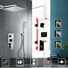Bathroom Multi-function Shower Panel Black Shower Column + Body Jets & Hand Unit