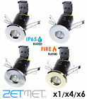 1/4/6 x IP65 Fire Rated GU10 LED Recessed Bathroom Shower Downlights Spotlights