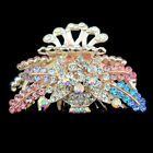 new jewelry women accessories hair extension crystal barrette flower clip comb f