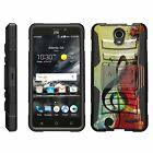 For ZTE Prestige 2 / Maven 3 Rugged Hybrid Holster Belt Clip Case Kickstand