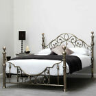 Hot Sale - Luxury Antiqued Brass Metal Bed Frame Vintage Victorian Double King