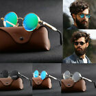 Vintage Polarized Steampunk Sunglasses Fashion Round Retro Mirrored Eyewear
