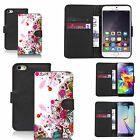 Black pu leather wallet case cover for most mobiles - infatuated