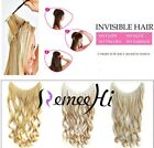 One Piece Body wave  100% Remy Human Hair Invisible Wire Extension 80g