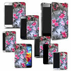 hard durable case cover for most mobile phones - silver flower