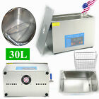 3/10/22/30L Ultrasonic Cleaner Stainless Steel Industry Heated Heater w/Timer