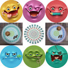 Funny Emoji Boho Round Tapestry Beach Towel Throw Picnic Yoga Mat Floral Blanket