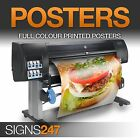 POSTER PRINTING Matt Satin or Gloss Colour Poster Printing A0 A1 A2 A3 A4