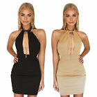Halter neck Backless Dress Hollow Out Bodycon Bandage Evening Party Clubwear