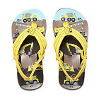 REEF NEW Boys Ahi Flip Flops Yellow Trucks BNWT