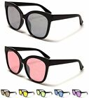 Round Flat Lens Oversized Cat Eye Design Womens Girls Sunglasses 100%UV400 11020