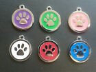 Dog Tags Paw Personalised Engraved Pet Tags Disc Quality Puppy Cat ID Tags A086
