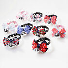 1pc Cute Adjusted Dog Puppy Cat Bow Tie Neck Bowknot Pet Collar with Bells Bow