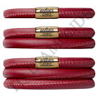 Endless Jewelry Red Leather Bracelet - Gold Tone Stainless Steel Clasp