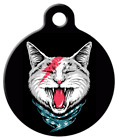 Pet ID Name Tag Cat Rocker Bowie Ziggy Cat Personalised Custom DOG CAT Name Tag