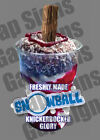ICE CREAM VAN STICKER SNOWBALL  KGB SUNDAE CATERING SHOP WITH/WITHOUT FLAKE