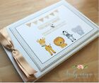 SAFARI Personalised Christening/Baptism Guest Book Photo Album Boy or Girl