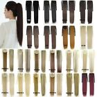 """22"""" Women's Clip In Long Straight Steel Synthetic Ribbon Ponytail Hairpieces"""