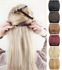 "16""-24""One Piece 5 Clip- In 100% Real  human hair extension 120g Black Blonde"