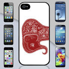 New Red Tribal Elephant Apple iPhone & Samsung Galaxy Case Cover