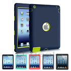 Silicone High Impact Shockproof Heavy Duty Rubber Hard Case Cover For Apple iPad