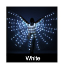 LED ISIS Wings Belly Dance + 2 telescopic sticks,  Free shipping from USA .