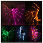 LED ISIS Wings Belly Dance + 2 telescopic sticks Free shipping from USA