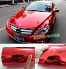 All the Wrap - Car Glossy Mirror Red Chrome Vinyl Film Sheet Sticker Decal BO