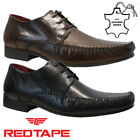 MENS RED TAPE REAL LEATHER LACE UP CASUAL FORMAL SMART WORK OXFORD SHOES SIZE