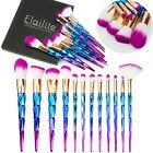 US 12pcs Unicorn Makeup Brushes Foundation Set Cosmetic Blus