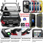 Shockproof Aluminum Metal Waterproof Glass Hard Cover Case for iPhone & Samsung