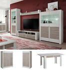 White Wall Unit Entertainment Media Center Modern Living Room Furniture TV Stand
