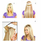 "16""-24"" Straight  Human Hair Extensions Secret  Wire Miracle Wire Remy 120g"