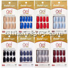 Kiss Gold Finger Gel Nail Matte Manicure Press-on Neon Solid Color Long Glue 1PC