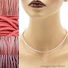 Pink Leather Cord Necklace Custom Handmade choker to 36 inches 16 22 24 30 18 +