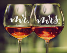 Mr. Mrs. Wedding Champagne Wine Glass Decal Sticker Bridal Party Gift
