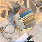 Retro Faux Leather Small Mini Single Shoulder Bag Crossbody Chain Purse Drew Bag