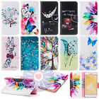 Flip Printed Design Card Wallet PU Leather Case Cover For Various Smart Phones