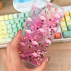 New GLITTER FLAMINGO-Shinny Liquid PINK Skinny Dip Phone Case For iPhone 6 6S 7