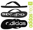 adidas Neo Mens Black/White Summer Footwear Flip Flops Mix Sizes *NEW