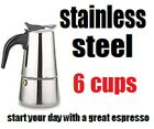 Stovetop Coffee Maker 4/6 CUP Stainless Steel Cuban Espresso Percolator cafetera photo