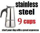 Stovetop Coffee Maker 4/6 CUP Stainless Steel Cuban Espresso Percolator cafetera