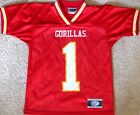 PITTSBURG STATE GORILLAS YOUTH FOOTBALL JERSEY NCAA #1 SMALL, LARGE OR XL NEW!