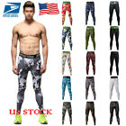 US Men Boys Compression Skin Sports Bike Workout Long Pants Trousers Leggings
