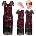 1920s Flapper Dress Vintage Gatsby Women's Wedding Dresses Party Sequin Costume