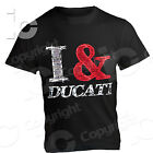 T-Shirt Ducati Desmo Love Racing Io & Ducati Power Strada Panigale Corse Donna