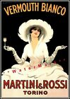 Vermouth Martini 1918 Vermouth Bianco Vintage Poster Print Adver FREE US S/H