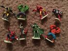 "Zerboz Heroics Marvel Lot Hulk Thor Iron Man 1"" Figures Loose"